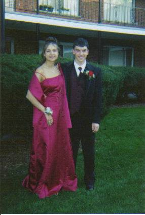 Patrick and friend at Senior Prom